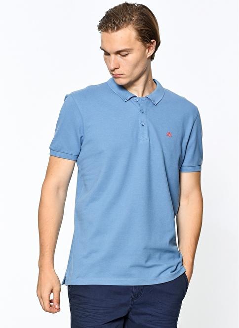 Mavi Polo Yakalı Tişört Mavi